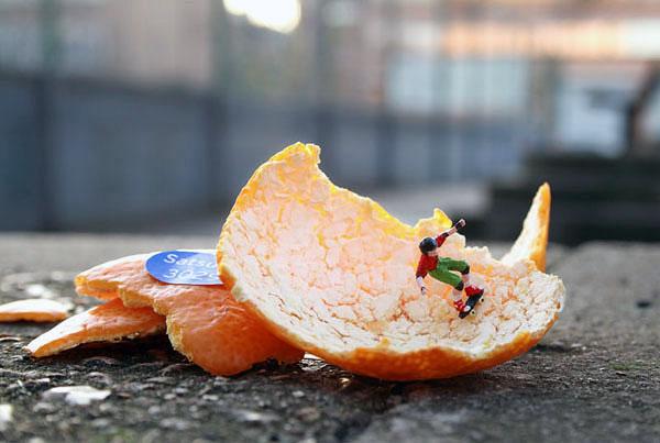 Slinkachu Orange Peel