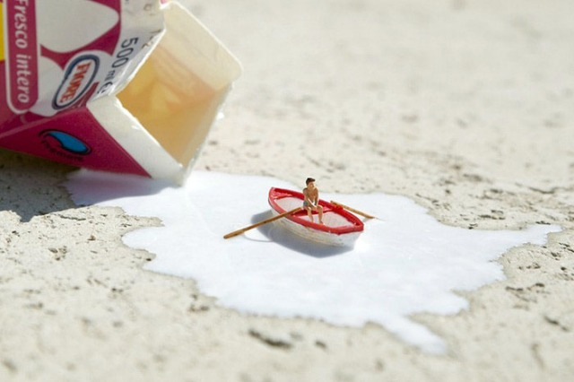 Slinkachu Spilt Milk