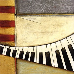 abstract piano keys