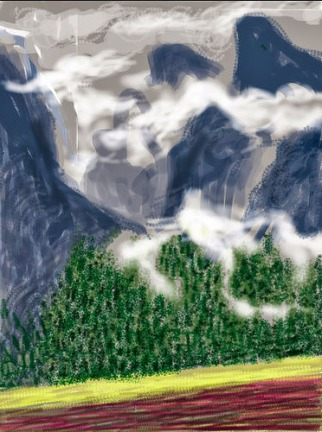 david hockney yosemite ipad