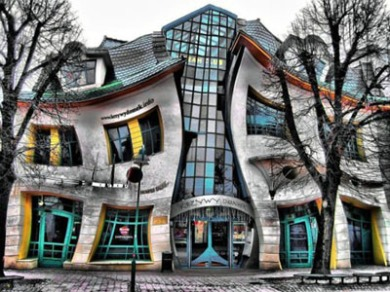 crooked house of sopot poland