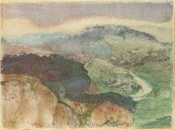 landscape monotype degas