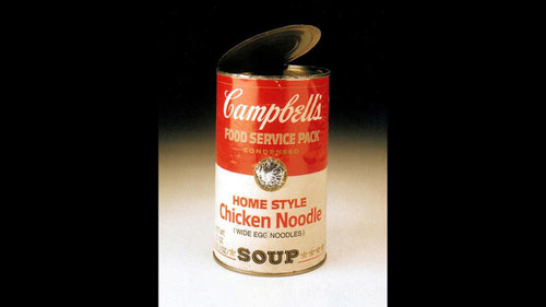 pinhole campbell's soup