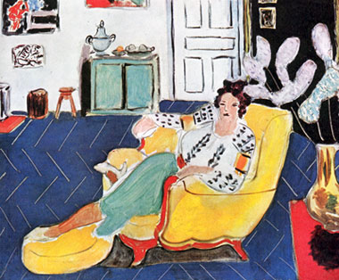 matisse young girl with a sofa