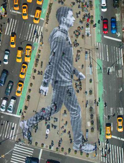 JR street art
