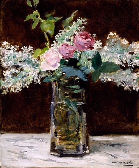 manet lilacs and roses